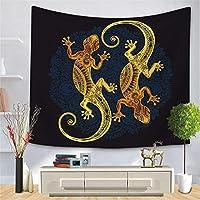 ブラックゴールド動物タペストリークロスボーダーゴールデンパターンシリーズ吊り布家の装飾桃肌背景布-スタイル3_150 * 210cm