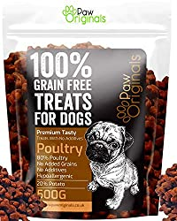 100% Natural & Premium - Our premium natural dog treat kibble is made from 80% poultry meat and 20% potato & gravy! No additives, no nasties and 100% natural. Your pooch will love our training treats, great for your dogs health and great tasting too ...