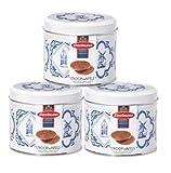 3latas de galletas Daelmans Stroopwafels de color azul