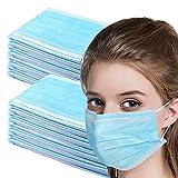 KGIDK - Orejeras desechables transpirables a prueba de polvo, antiolor con orejeras, no tejidas gruesas de 3 capas, 50pcs