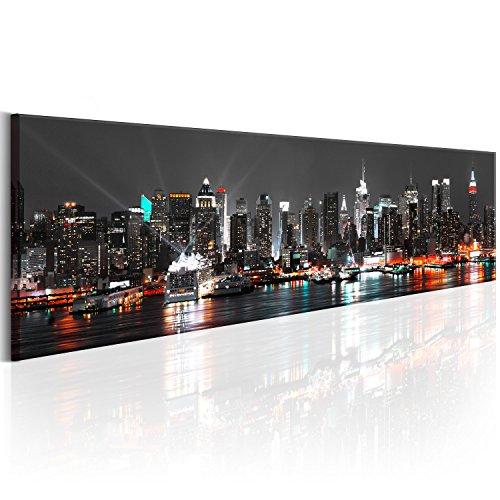 murando - Bilder New York 172x45 cm Vlies Leinwandbild 1 TLG Kunstdruck modern Wandbilder XXL Wanddekoration Design Wand Bild - Skyline NYC Stadt d-B-0082-b-a