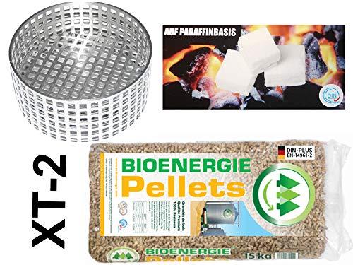 NEU: Komplettes Winter-Sorglos-Paket: Anzündhilfe XT-2 (mit 5 J. Garantie) + Anzünder + 15 kg Holzpellets - mehr als 120 Anzündvorgänge - Arbeitserleichterung beim Ofenanzünden - Kaminzubehör