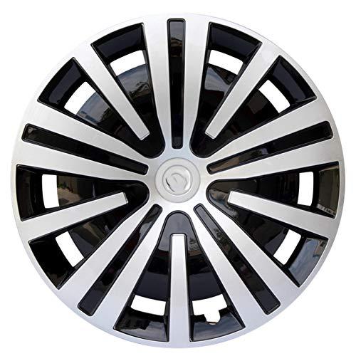 TXOZ-Q Plata 4pcs Cubiertas de Ruedas Trim Compatible con Piezas de modificación de automóviles de 16 Pulgadas Rueda de colocación Gratuita Enviar Logo de Coche