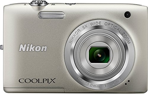 Nikon Coolpix S2800 20.1 MP Point & Shoot Digital Camera with 5X Optical Zoom International Version, Silver