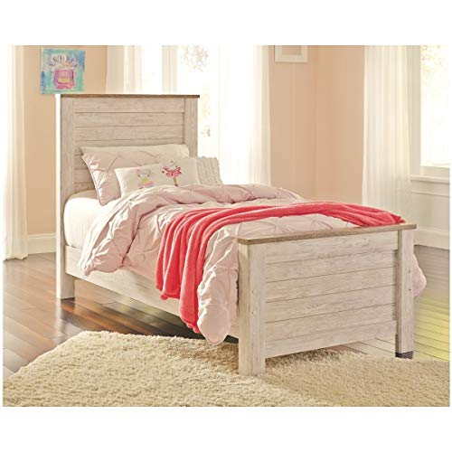 Buy Bargain Signature Design by Ashley Willowton Twin Panel Footboard - White Wash