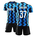 PUPPYY 20-21 Milan Inicio 37# Set De Uniformes De Fútbol, Chándal De Fútbol Transpirable, Hombre Fútbol Portero Jersey, Boy Sports Regalo 140
