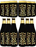 50 Birthday Decorations for Men, 50th Birthday Bottle Cooler for Men, 50 Year Old Decorations for Men, Cheers to 50 Years, 50th Birthday Party Supplies Favors, 50th Birthday Can Cooler Sleeve