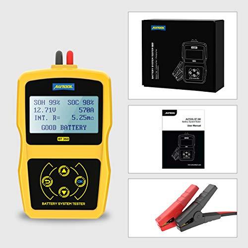 Autool BT-360 Auto Batterie-Tester Auto-Batterie-System-Tester Diagnosewerkzeug