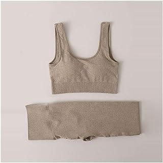 SHENGC New Women Seamless Yoga Sets Running Gym Leggings Sports Bra Long Sleeve Crop Top High Waist Fitness Sports Suit Wo...