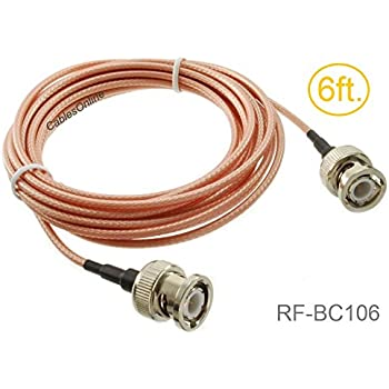 3 feet RG400 Silver Plated BNC Male Angle to N Male RF Coaxial Cable