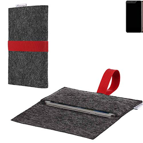 flat.design vegane Handy Hülle Aveiro für Allview X4 Xtreme passgenaue Filz Tasche Case Sleeve Made in Germany
