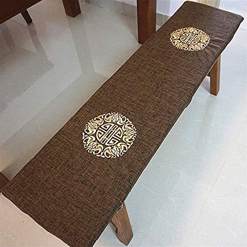 Cojines largos transpirables para sillas mecedoras, cojín de banco columpio relleno, esponja para interiores y exteriores, cojines para sillas de patio rellenos de esponja A 30x120cm (12x47in)
