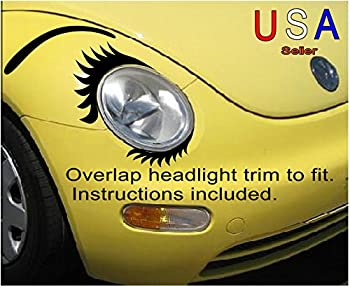Car Eyelashes Set Lowers and Eyebrows Face for Headlight VW Bug USA Decal Sticker