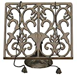 Cast Iron Ornamental Cook Book Stand Recipe Holder