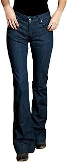 Sponsored Ad - Kimes Ranch Women's Lola Trouser Flare Leg Jeans Indigo 14W x 34L