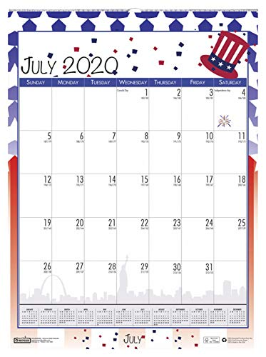 House of Doolittle 2020-2021 Monthly Seasonal Wall Calendar, Academic, 12 x 16.5 Inches, July - June (HOD3395-21)