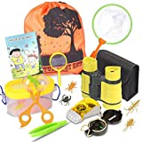 Outdoor Explorer Kit & Bug Catcher Set with Binoculars, Flashlight, Compass, Magnifying Glass, Butterfly Net...