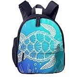 Kinderrucksack Kleinkind Jungen Mädchen Kindergartentasche Outline Sea Turtle Line Top Backpack...