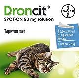 Droncit Spot On Vermifuges Gouttes pour les chats 4 x 0,5 ml