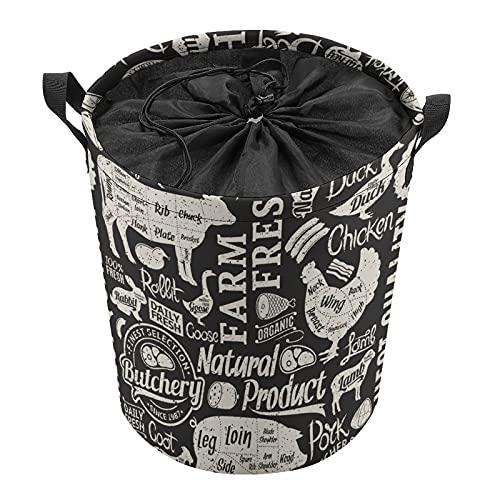 Cubo de almacenamiento impermeable grande organizador ligero cesta para la colada, cubos de juguete, cestas de regalo, ropa sucia, dormitorio de los niños, baño de cerdo y ganso