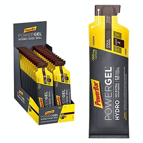 PowerBar PowerGel Hydro Cola 24x67ml - High Carb Energie Gel + C2MAX + Natrium + 100mg Koffein