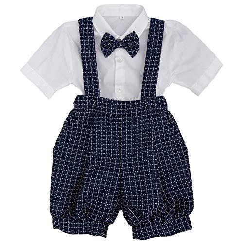 MARTINEZ Alessandro AM2643 - Conjunto de ceremonia para bebé, color azul y blanco turquesa 6 Meses