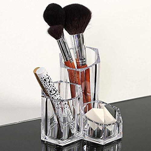 ZHAS Boîte de Rangement cosmétique Top Grade Transparent Cristal en Plastique Cosmétique Maquillage Brush Pen Outil Organisateur Boîte De Stockage en Acrylique