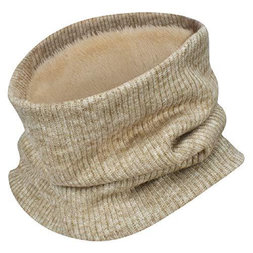 UMIPUBO Sciarpa Invernale Fodera Calda Unisex Sciarpe a Maglia Fashion Sciarpa Tubo Snood per Sport Invernali all'aperto (beige)