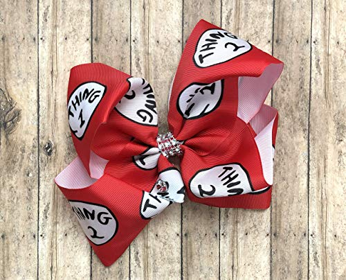 Thing 1 and 2 Dr Seuss Inspired Hair Bow by Inspired Bows