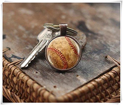 we are Forever family Baseball-Schlüsselanhänger, Sport-Schlüsselanhänger, Herren-Schlüsselanhänger, kuppelförmiger Glasschmuck, reine Handarbeit