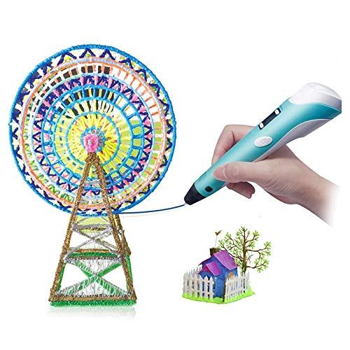 3D Printing Pen Intelligent 3D Pen with PLA Filament Compatible with PLA ABS LCD Display Arts Crafts Creative Toys Gift for 8 12 Years Old Kids Boys Girls Children's Day Present Creativity Thinking