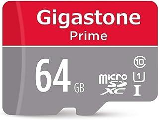 Gigastone Micro SD Card 64GB マイクロSDカード フルHD SDアダプタ付 ミニ収納ケース付 w/adapter and case SDHC U1 C10 90MB/S 高速 micro sd カード Class 1...