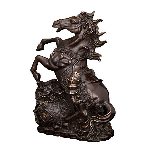 Figuras,Estatuas,Estatuillas,Esculturas,Estatua De Bronce De Caballos Animales De Pequeño Tamaño, Caballo Escultura Ornamental...
