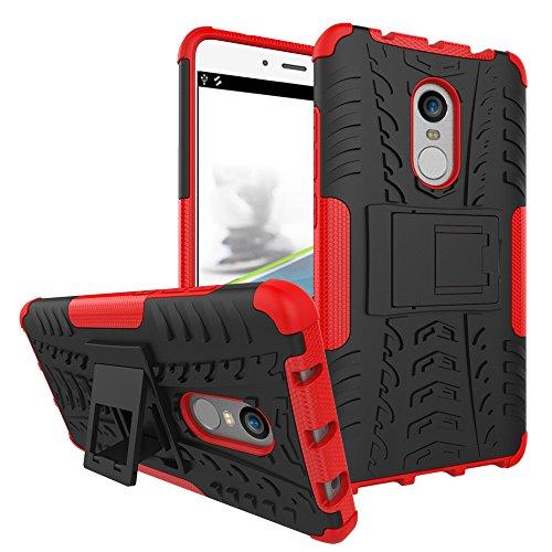 XMT Xiaomi Redmi Note 4,Xiaomi Redmi Note 4X 5.5 Funda,2 en 1 Silicona TPU + PC Hard Case Cover Dual Parachoques Carcasa Funda Bumper para Xiaomi Redmi Note 4,Xiaomi Redmi Note 4X Smartphone (Rojo)