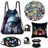 Amo-ng Set,Drawing Bag+Pillowcase+Stickers+Brooch+Keychain+Phone Holder…