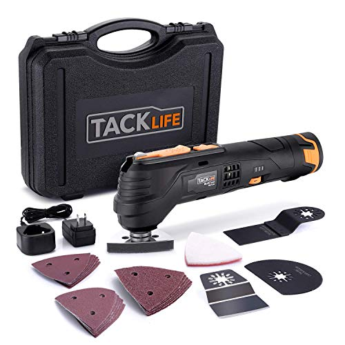 Cheapest Prices! TACKLIFE 12V Cordless Oscillating Tool, 2,000 mAh Lithium-Ion, 6 Variable Speeds wi...