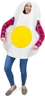 Eggcellent Fried Egg Halloween Costume, Unisex Men & Women Breakfast Food Suit