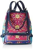 Desigual PU Backpack Big, Mochila de poliuretano grande. para Mujer, azul, Medium