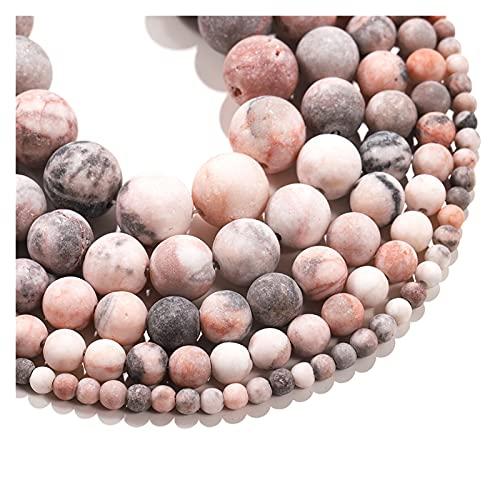 Multifunción 1 hebra natural rosa rosa cebra piedra perlas sueltas 6 8 10 12 mm perlas espaciador de perlas redondas para joyería haciendo collar de pulsera para manualidades de bricolaje joyería