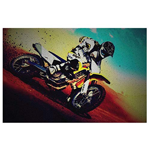 Got Dirt - Alfombrilla para puerta delantera de motocross, interior o exterior, alfombrilla de bienvenida para puerta delantera, impermeable, antideslizante, atrapa el polvo y la nieve 50 x 40 cm