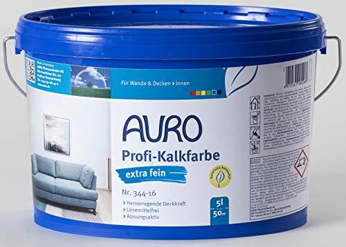 AURO Profi-Kalkfarbe extra fein - weiß - Nr. 344-16 - 5 Liter