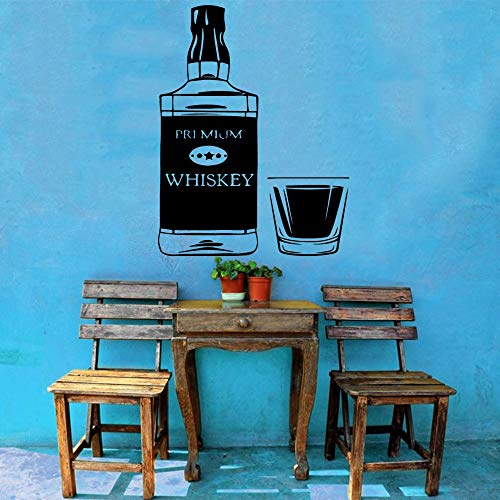 Whisky vinyl wall art sticker decoratie bar decoratie sticker sticker muurschildering <> 43x56cm