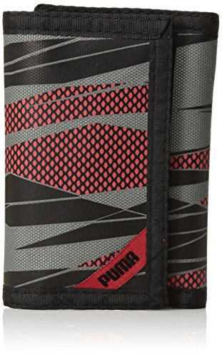 PUMA Little Kids' Rise Trifold Wallet, red/black, One Size