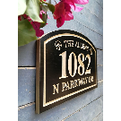 Family Name and House Number Engraved Plaque Housewarming