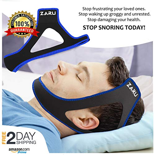 Premium Anti Snore Chin Strap [2020 Upgraded Version] - Advanced Snoring Solution Scientifically...