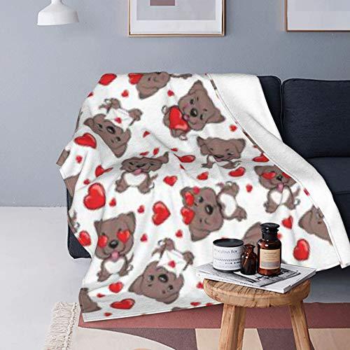 DUTRIX Patrón de pequeños perros marrones rojos, ultra suave, manta de forro polar, 200 x 150 cm