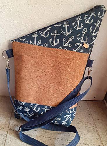 Tasche Handtasche Schultertasche FOLDOVER Crossover HANDMADE Maritim