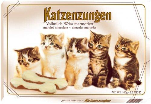 Sarotti Katzenzungen weiß Vollmilch marmoriert Menge:100g