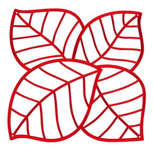 koziol Raumteiler Leaf, Kunststoff, transparent rot, 0.4 x 26.9 x 27.1 cm