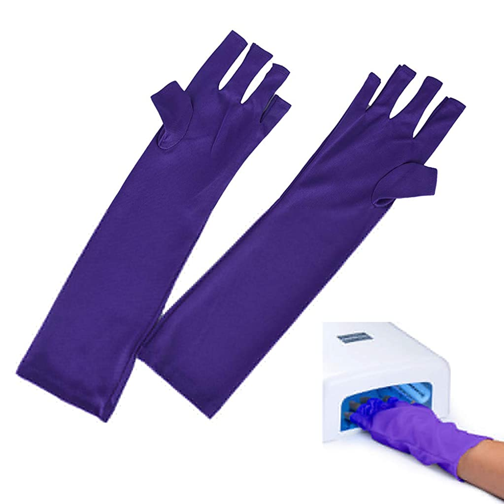 家庭対抗試みAnti UV Glove for Nail Dryer UV Light Lamp Radiation Protection Hand Skin Protection Gloves Nail Art Dryer Tools Manicure